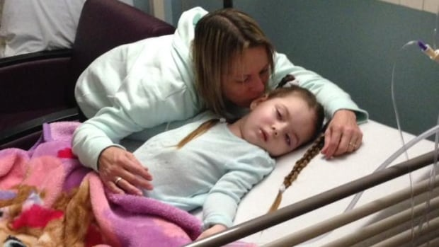Deana Atchison-Heaps sleeps 5 nights a week at the hospital next to her daughter Kaylee.
