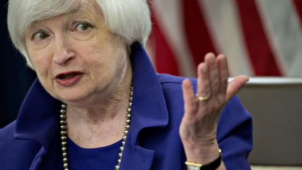 The U.S. Federal Reserve, which is led by chair Janet Yellen, seen here in a Dec. 2015 photo, has decided to keep a key interest rate unchanged.
