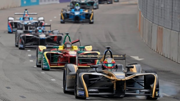 Formula E features fully electric cars, which can reach speeds of up to 225 kilometers per hour.