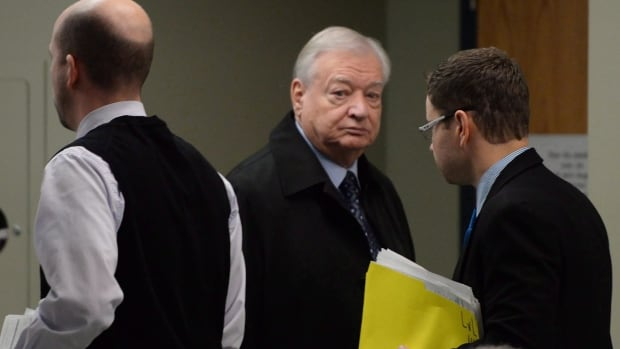Former Laval mayor Gilles Vaillancourt arrives for a court appearance earlier this month.