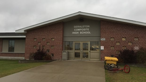 Students at Geraldton Composite High School have to take some classes online, due to a lack of students signing up for them in the classroom.