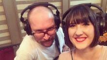 Ellen Doty and Danny Vacon recording at OCL Studios.