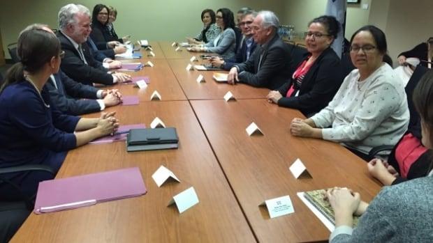 Aboriginal leaders meet with Couillard