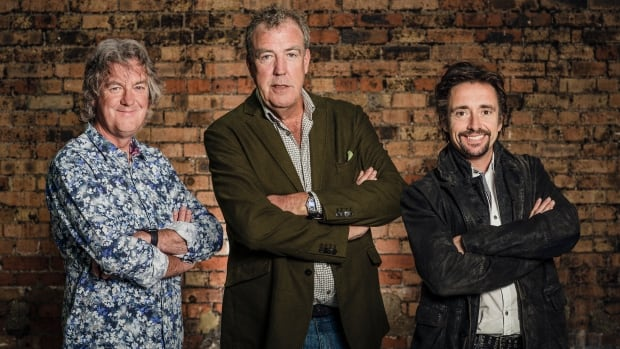Richard Hammond, right, was shooting for season two of motoring show The Grand Tour with co-hosts James May, left, and Jeremy Clarkson when he was injured in a motorbike incident.