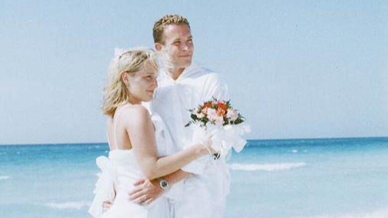Jessica Burman Zinger and Lane Burman at their wedding
