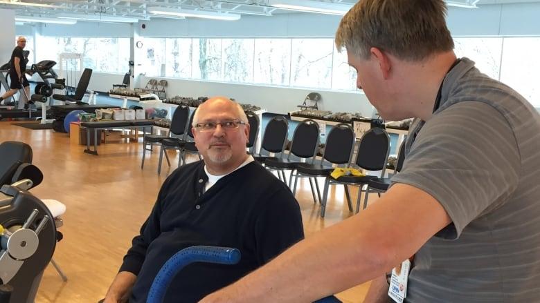 Stroke patient after receiving thrombectomy
