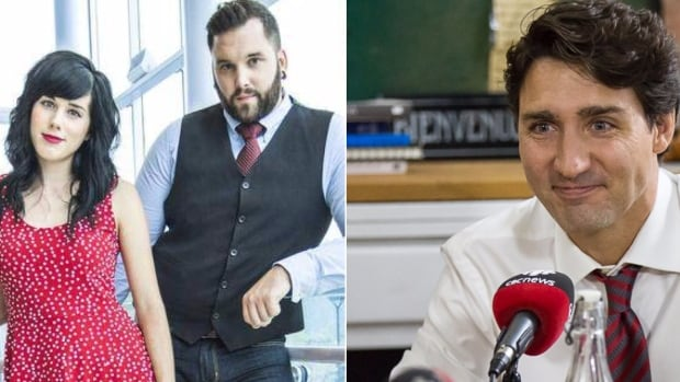 Canadian Prime Minister Justin Trudeau chose a Christmas song by Newfoundland folk duo Fortunate Ones to play on a Montreal radio show Friday.