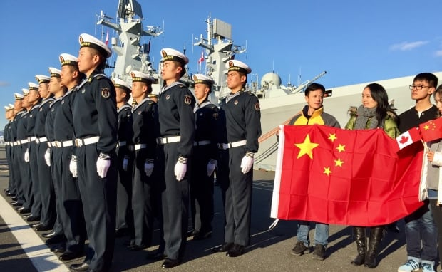 Chinese People's Liberation Army (Navy) sailors in Victoria