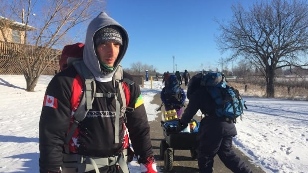 Riley Nadoroznick said members were prepared mentally and physically for Saturday's long, cold march to the Regina Food Bank.