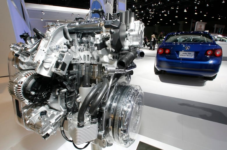 VW Settlement Canada >> A Volkswagen Jetta TDI diesel engine is displayed at the Los Angeles Auto Show in this November ...