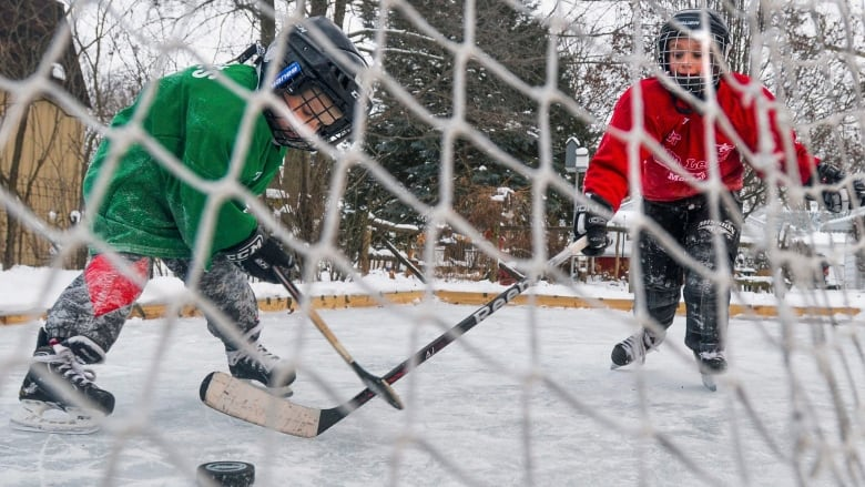 It Takes A Bit Of Work To Keeping A Backyard Rink In Peak Condition. (Ron  Johnson/Associated Press)