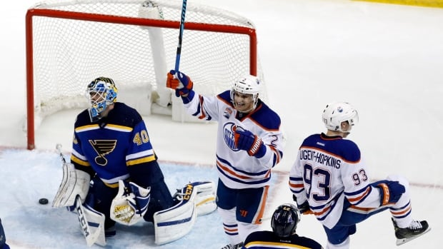 Nugent-Hopkins scores in OT to give Oilers win over Blues