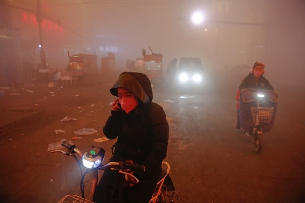 CHINA-POLLUTION Red alert
