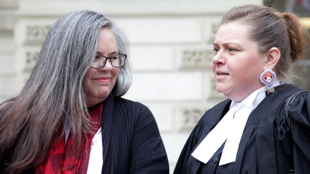 Lynn Gehl (left) and her lawyer Christa Big Canoe have been fighting for over a decade to gain Indian status, which she won in Ontario's top court.