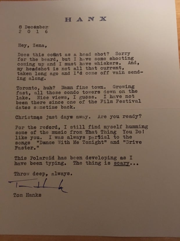 Tom Hanks letter