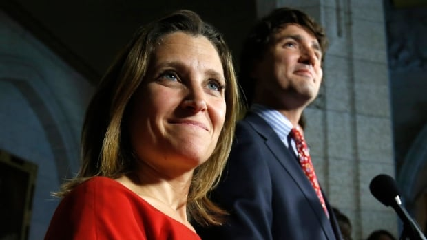 International Trade Minister Chrystia Freeland says she's tentatively booked to have her first face-to-face discussion with China in February — a move that comes after Prime Minister Justin Trudeau announced a goal of doubling trade with the Asian nation by 2025.
