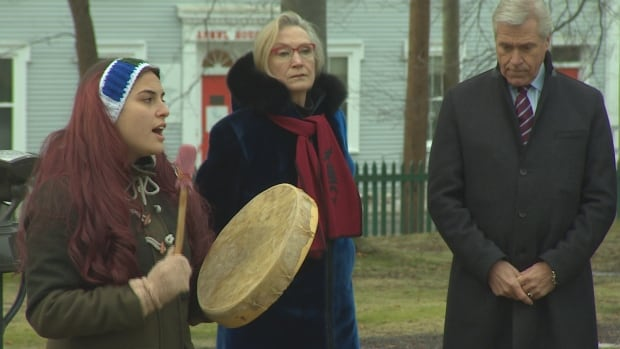 A Winter solstice ceremony was held outside Government House in St. John's Dec.21.