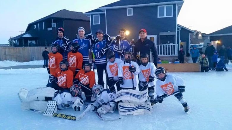 Biggest Backyard Ice Rink :  Blades tried out his familys backyard skating rink (Jeff Clezy