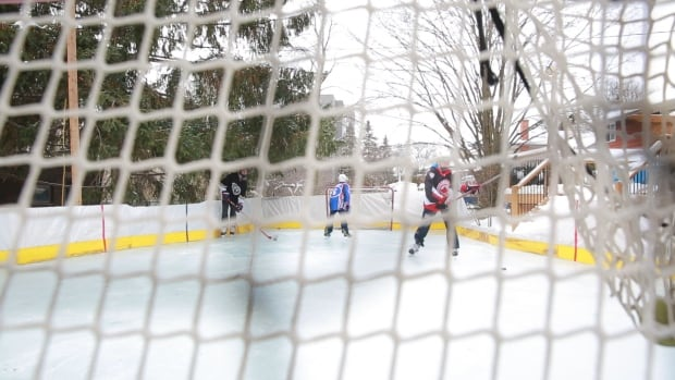 Russell Gunner has built a backyard rink at his Oakville home for 10 years.