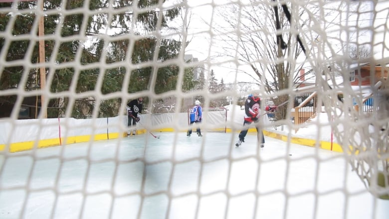 Oakville Dad Builds A Backyard Rink Because There S No Better Place