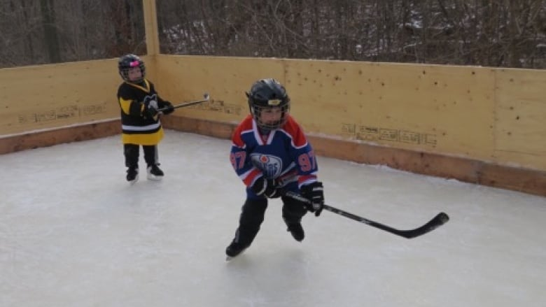 Backyard Hockey Rink Put On Ice After Neighbour Complaints Cbc News