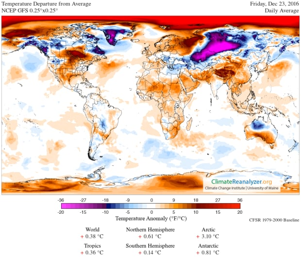 Arctic warmth anomaly