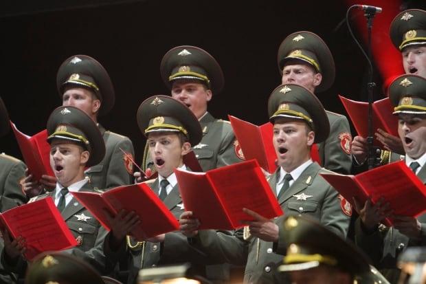 Red Army choir at the Festival international de musiques militai