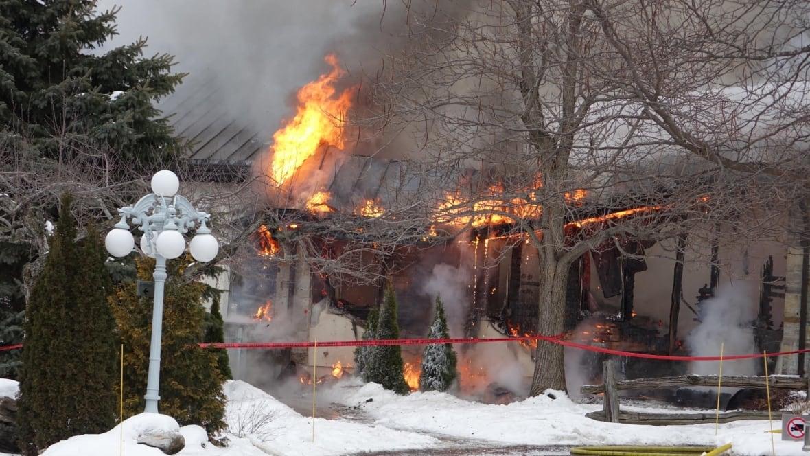 Major fire at strom spa nordique in mont saint hilaire montreal cbc news - Salon nordique ...