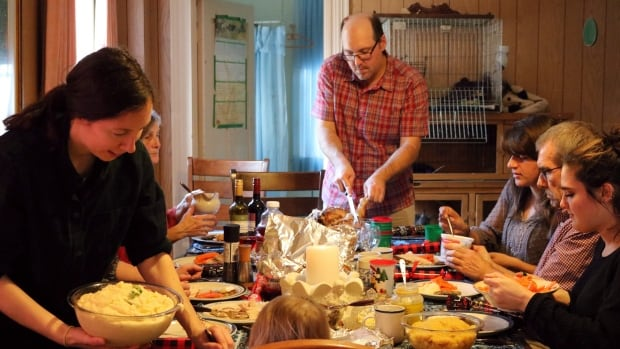 A group of strangers with nowhere to go during the holidays gathered at a farmhouse in Blockhouse, N.S., for Christmas Day dinner hosted by Patty McGill.