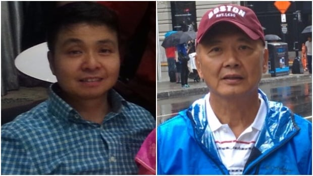 Roy Tin Hou Lee, 43, left, and Chun Sek Lam, 64, have been missing since Christmas Day when they set out on snowshoes from the Cypress Mountain Resort parking lot.