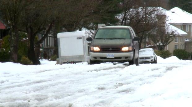 Van on Snow