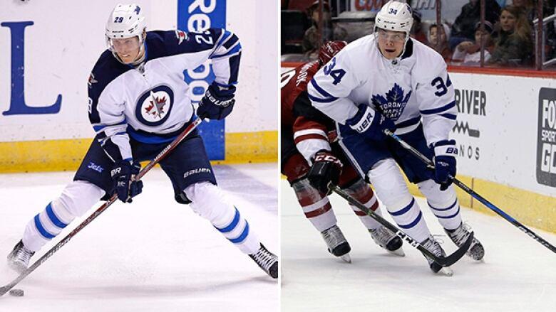 check out 8e64c 4658c Auston Matthews, Patrik Laine get 1st all-star nods | CBC Sports