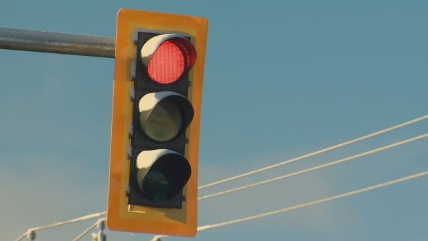 With traffic lights out at a few locations on Main Street, police are asking people to treat intersections as four-way stops.