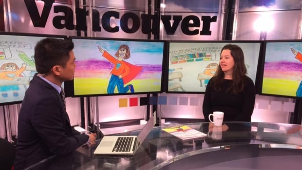Kim Block talked with CBC about her new series of children's books, Adventures of a Stuttering Superhero.