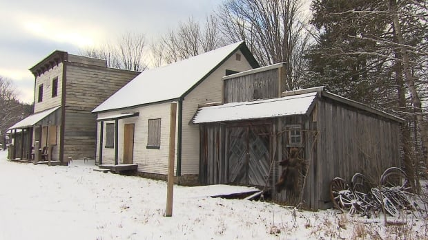 Canadiana Village, designed to resemble a pioneer settlement from the 19th century, includes a church, a general store, a mill, a cemetery, a saloon and 22 houses. It's about an hour north of Montreal and is for sale for $2.8 million.