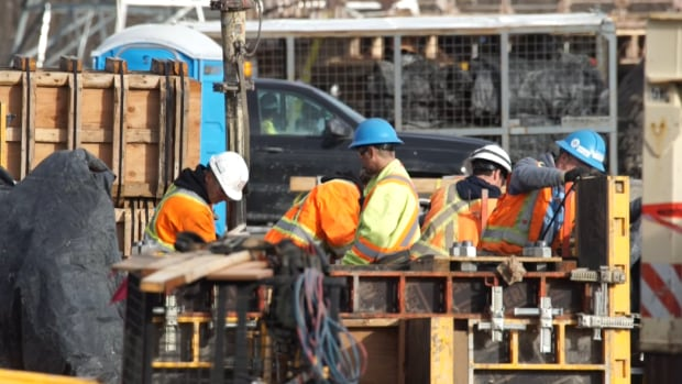 Construction crews at an electrical substation near Churchill Falls in Labrador are seen in a Pomerleau YouTube video.