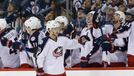 Blue Jackets Roll Past Jets To Reach 14 Straight (video)