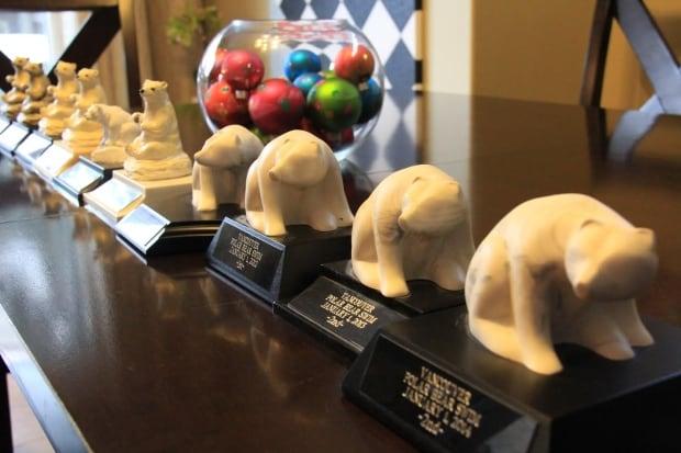 Vancouver Polar Bear Swim trophies Trevor Olson