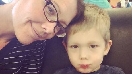 Rachel Lelinko and son