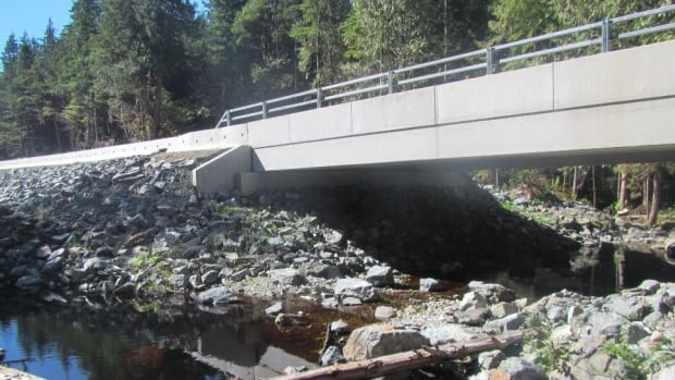 A new bridge is shown in Pacific Rim National Park on Vancouver Island. Parks Canada has ordered a study into whether it should give up its bridges, dams and highways.