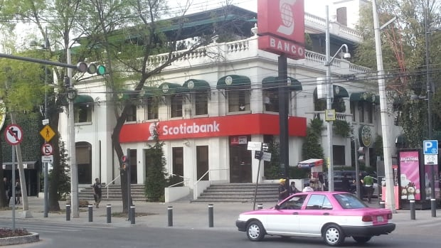 This Scotiabank branch in the Polanco area of Mexico City is one of more than 800 retail branches in the country, where the Toronto-based bank has about three million customers.