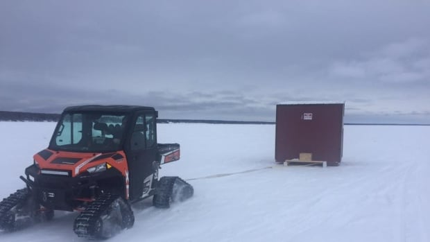 An ice-fishing shack stolen on Christmas Eve has been recovered, says Curtis Beyak, co-owner of Lake Winnipeg Ice Fishing Shack Rentals.