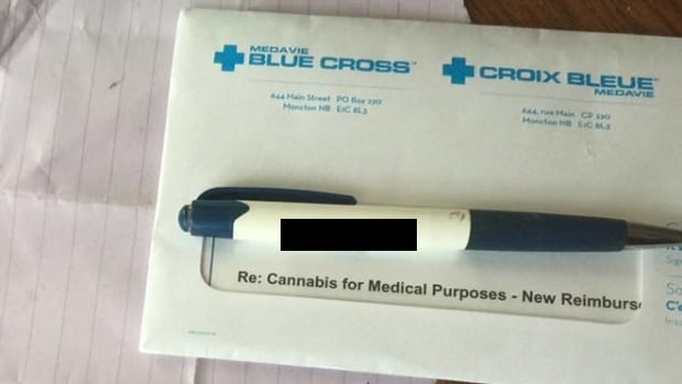 The letter signed by Veterans Affairs Canada arrived in a Medavie Blue Cross envelope.