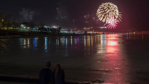 The fireworks return to the shores of Quidi Vidi Lake after the City of St. John's New Year's Eve party moved downtown last year for a special Canada 150 party.