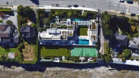 Chip Wilson Vancouver house aerial view