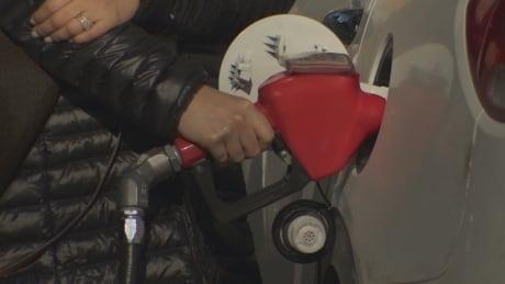 Toronto motorist at the pump