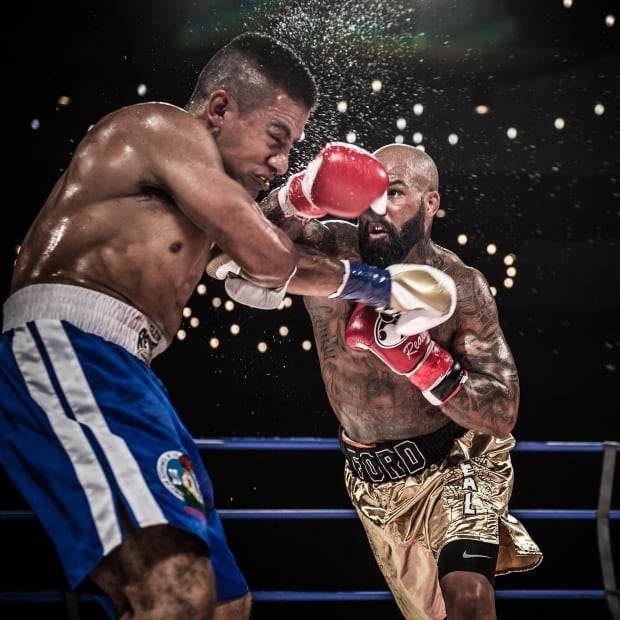 Ryan Ford fights Victor Palacios at Shaw Conference Centre