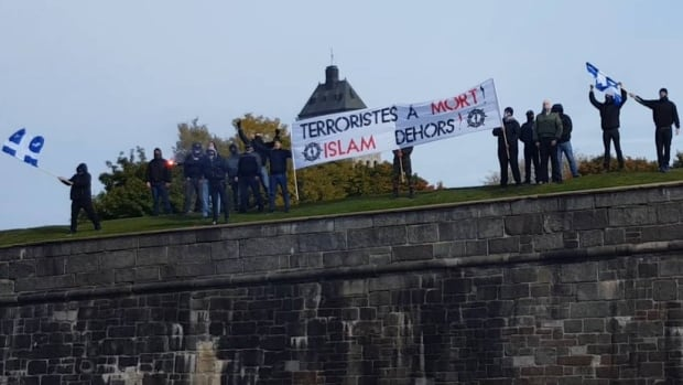 Atalante Québec, considered radical even by other far-right groups in Quebec, held a protest in October at the Citadelle in Quebec City.