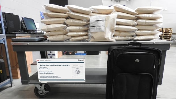 More than30 kilograms of suspected narcotics was seized from a commercial truck at the Aldergrove, B.C., border crossing in December.