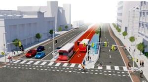 Baseline Road Rapid Transit Corridor median